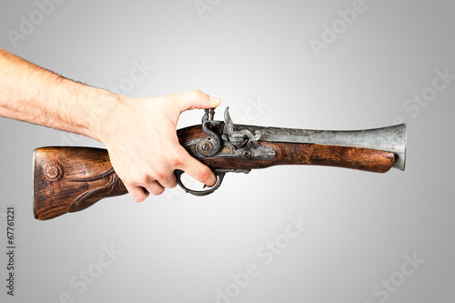 Pointing a Blunderbuss Canvas Print