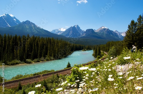 Spoed Foto op Canvas Canada Beauty of Canadian mountains