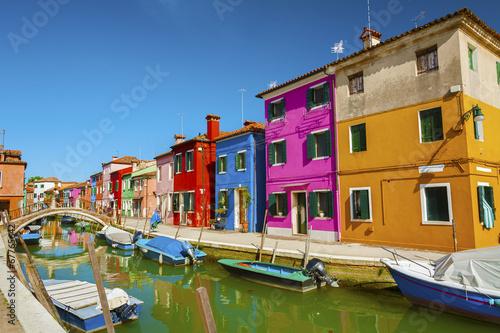 Poster Venice Burano island, Venice, Italy.
