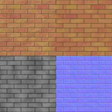 Brick Wall Seamless Generated Hires Texture (bump & Normal Map)