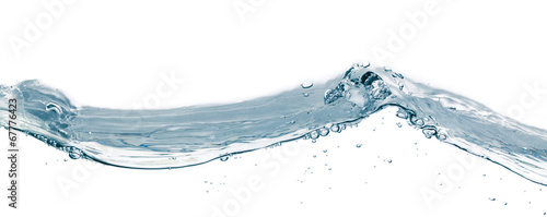Papiers peints Eau Water splash isolated on white. Close up of splash of water form