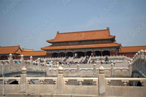 Foto op Aluminium Beijing Gate of Supreme Harmony in the Forbidden City, Beijing, China