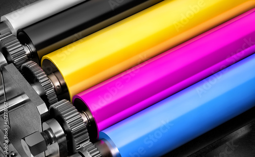 Pinturas sobre lienzo  printing machine
