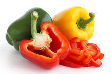Red, Yellow And Green Peppers ...