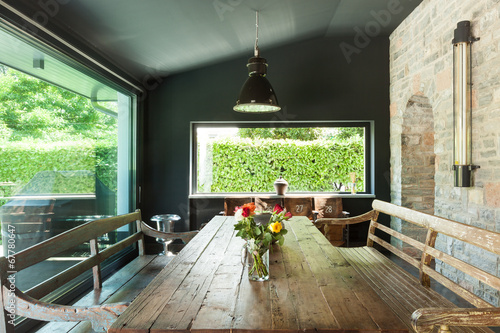 Fotografía  dining room. rustic furniture