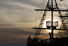 Silhouette Of Sails Of An Anti...