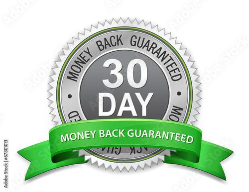 Fotografia  30 day money back guaranteed label