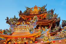 Ciyou Taoist Temple At Night.