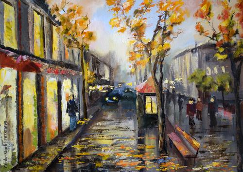 paryska-ulica-jesienna-pora-roku-ilustracja-akwarela