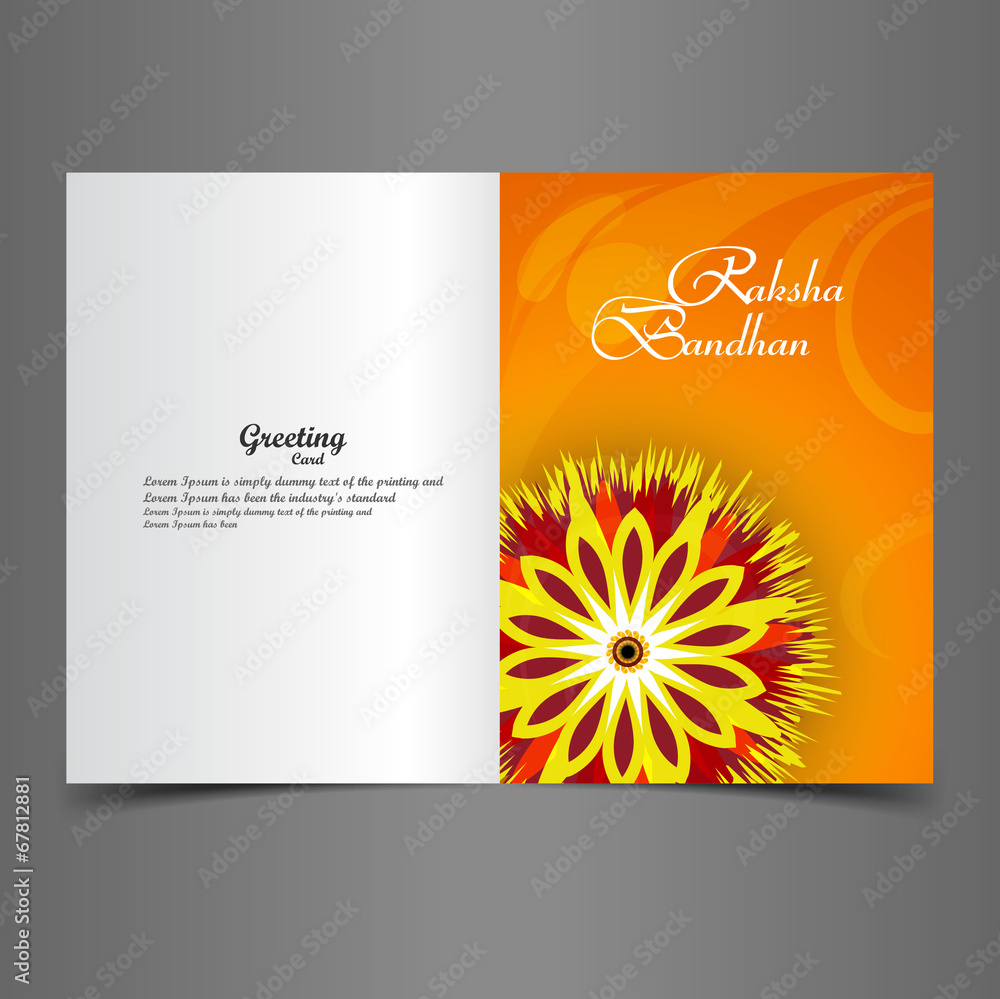 Photo Art Print Vector Illustration Indian Festival Raksha Bandhan