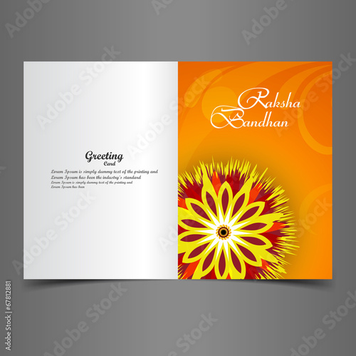 Fotografering  Vector illustration Indian festival Raksha Bandhan greeting card