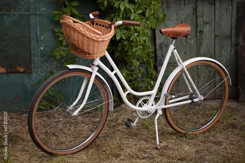 Fotobehang Fiets Retro vintage lady bicycle