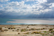 Dead sea salt beach