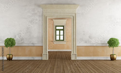 Photo Old room with stone doorway