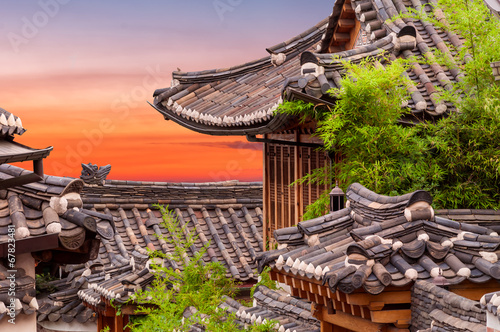 Photo sur Aluminium Seoul Bukchon Hanok Village