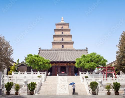 Staande foto Xian Giant Wild Goose Pagoda