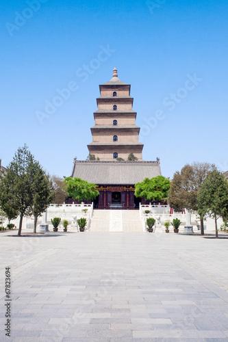 Foto op Plexiglas Xian Big Wild Goose Pagoda in Xian