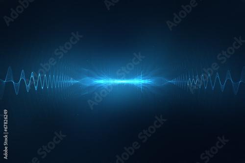 Fotografie, Obraz  Abstract digital sound wave background