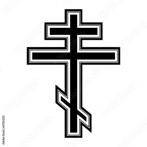 Religious orthodox cross icon Poster Mural XXL