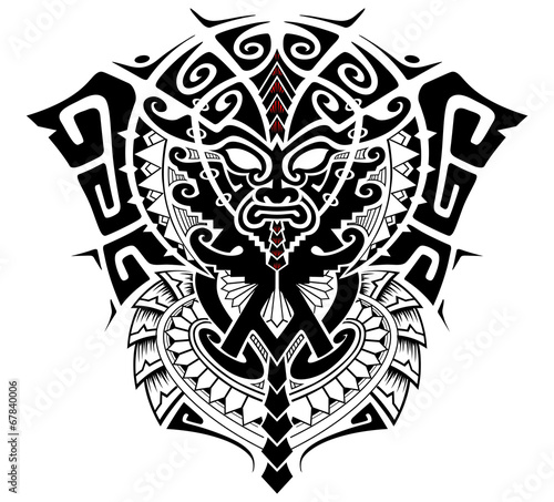 Tribal God With Alpha And Omega Symbol Vector Illustration Buy