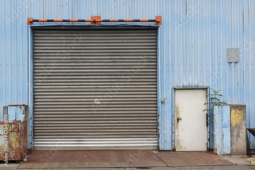Staande foto Industrial geb. Closed Industrial Gate