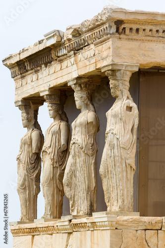 Foto auf AluDibond Athen The ancient Porch of Caryatides in Acropolis, Athens, Greece