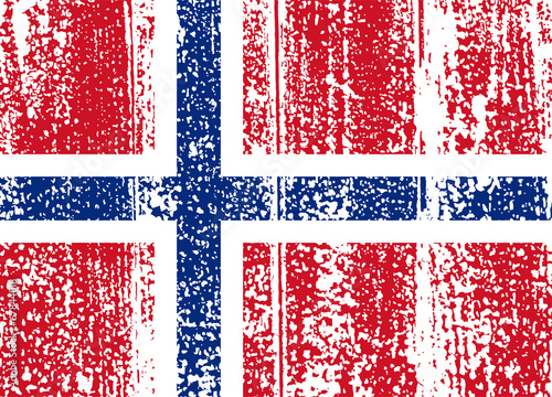 Norwegian grunge flag. Vector illustration Canvas Print