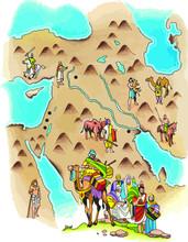 Mapa De La Ruta De Abraham A L...