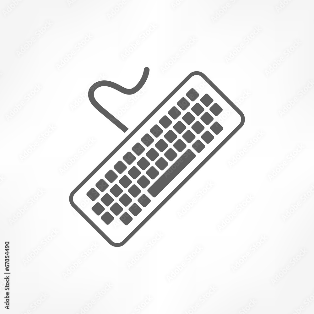 Fototapeta keyboard icon