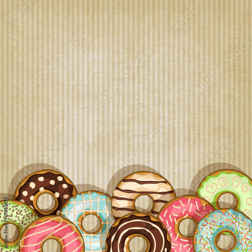 retro background with donut Poster