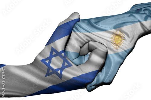 Fototapety, obrazy: Handshake between Israel and Argentina