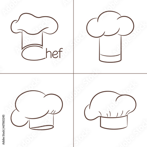 Set of chef's hats for your design Poster