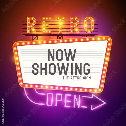 Fotografie, Obraz  Retro Showtime Sign Vector