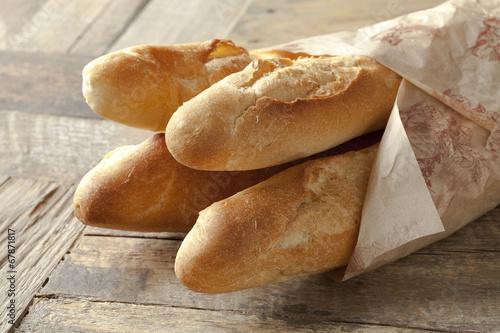 Valokuva  French baguettes