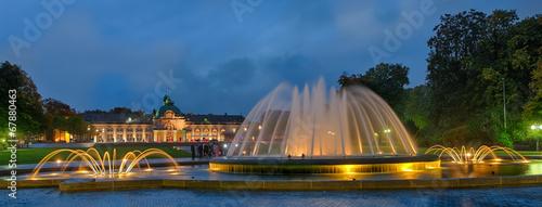 Photographie  Kurpark Bad Oeynhausen Kaiserpalast mit Brunnen