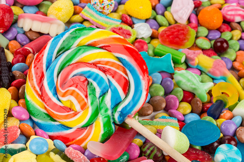 Garden Poster Candy lollipop on sweets