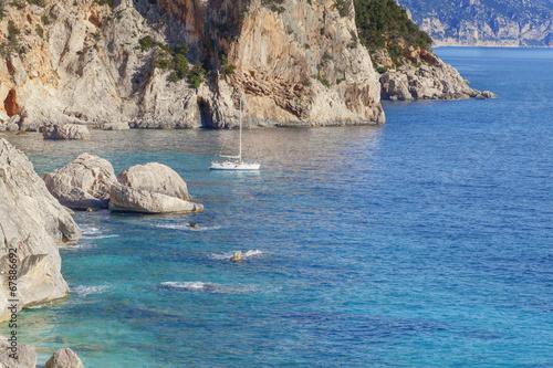 Fotografía  Segelboot, Cala Goloritze, Sardinien