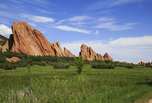 Sandstone Formation In Roxborough State Park In Colorado, USA