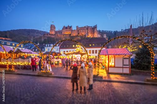Heidelberg Weihnachtsmarkt.Heidelberg Weihnachtsmarkt Buy This Stock Photo And Explore