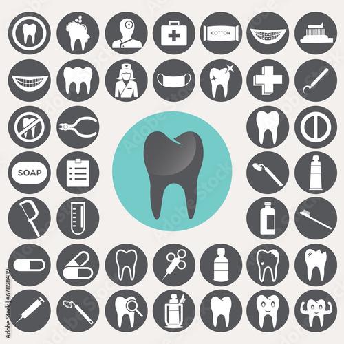 Dental icons set. Illustration eps10 #67898489