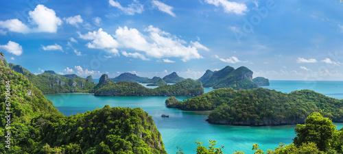 Spoed Foto op Canvas Eiland Bird eye view of Sea Thailand, Mu Ko Ang Thong island National P