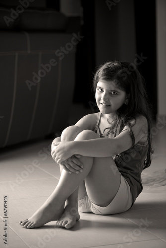 Fotografie, Obraz  Portrait of adorable smiling little girl