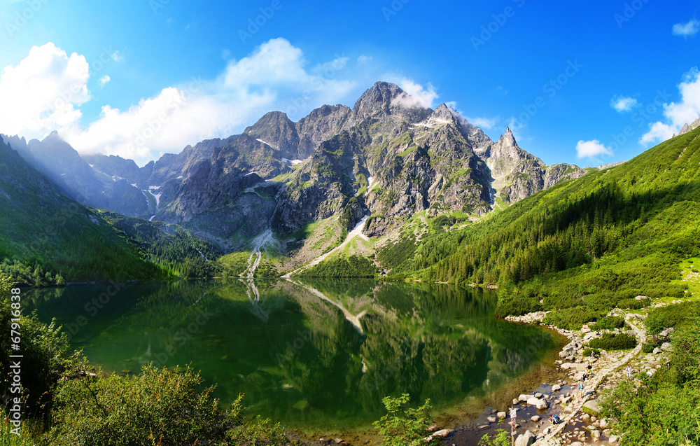 Fototapeta Eye of the Sea lake in Tatra mountains, Poland