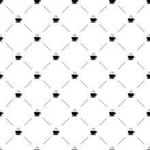Vector Seamless Pattern, Tea Cup
