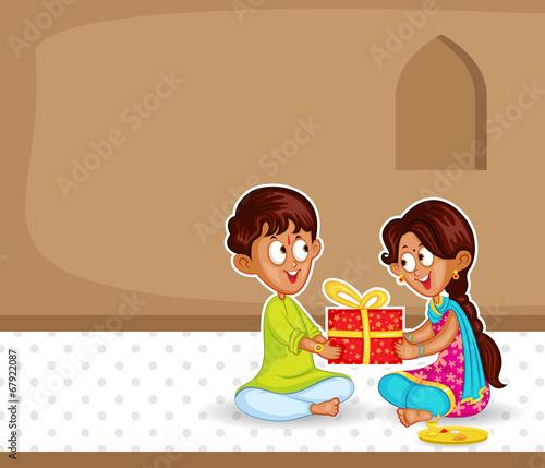 Foto  Brother and Sister in Raksha Bandhan