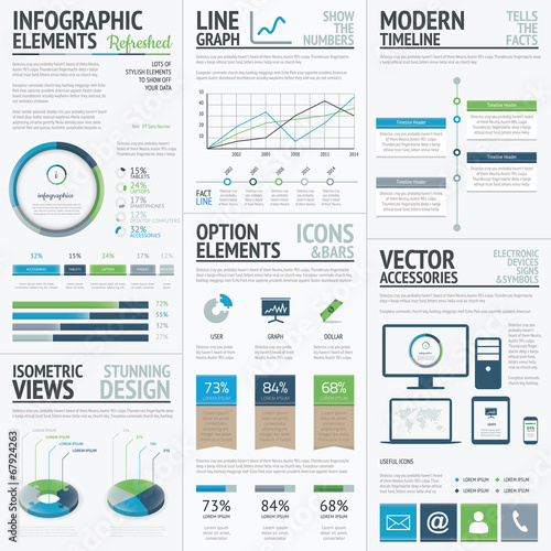 Photo  Finance, economy and business vector infographic elements
