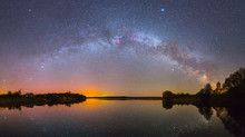 Bright Milky Way Over The Lake...