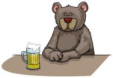Bear Drinking Beer