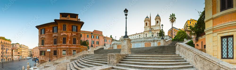 Fotografie, Obraz  Piazza di Spagna, Spanish Steps, Rome