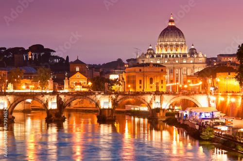 Obrazy na płótnie Canvas St Peter's Basilica, Vatican City, Rome